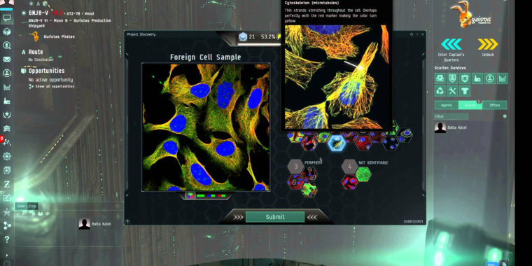 Minigame integrated into EVE Online helps scientists understand cells