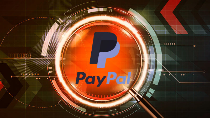 The most futuristic PayPal logo you could imagine.