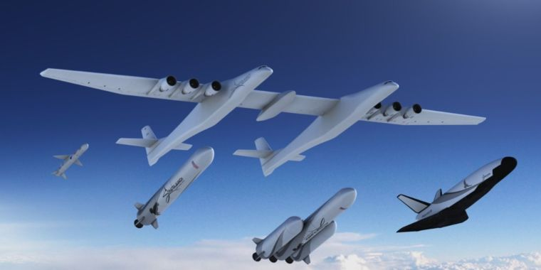 Finally, the biggest airplane in the world has some rockets to launch