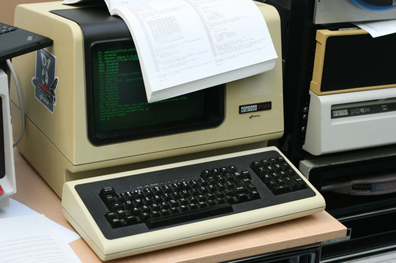 A VT100 remote control that is basically the same as Windows Remote Desktop.