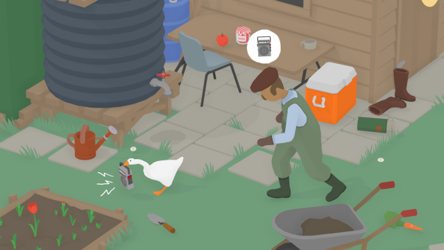 <em>Untitled Goose Game</em> is a puzzle game about being a trolling goose.