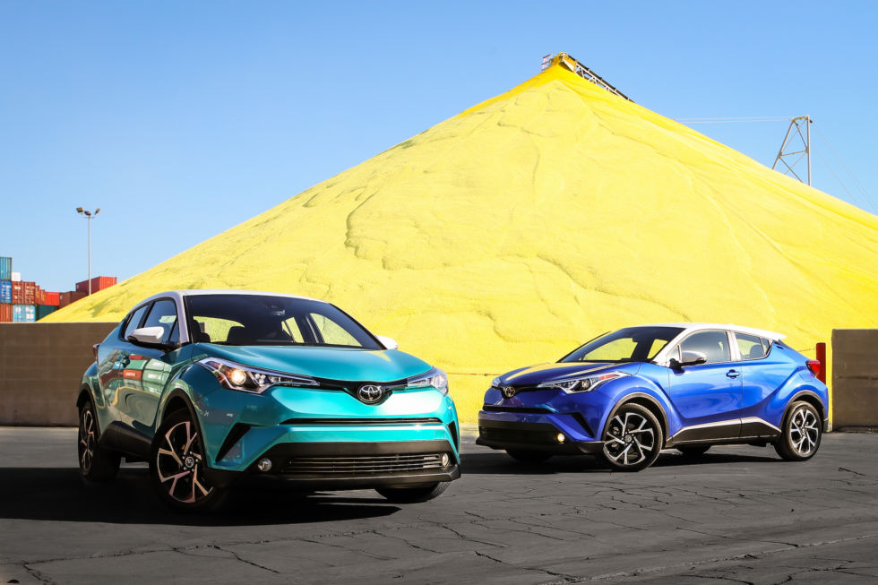 The C-HR comes in a range of bold colors to match the bold styling.