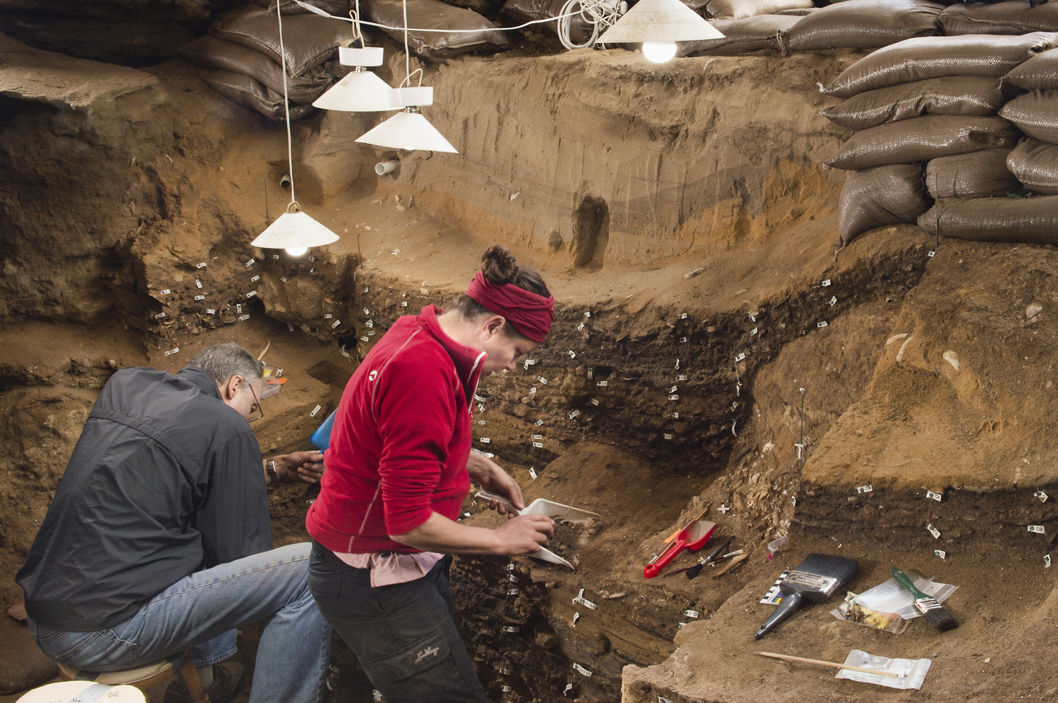 Archaeologists have been excavating South Africa's Blombos Cave since 1991.