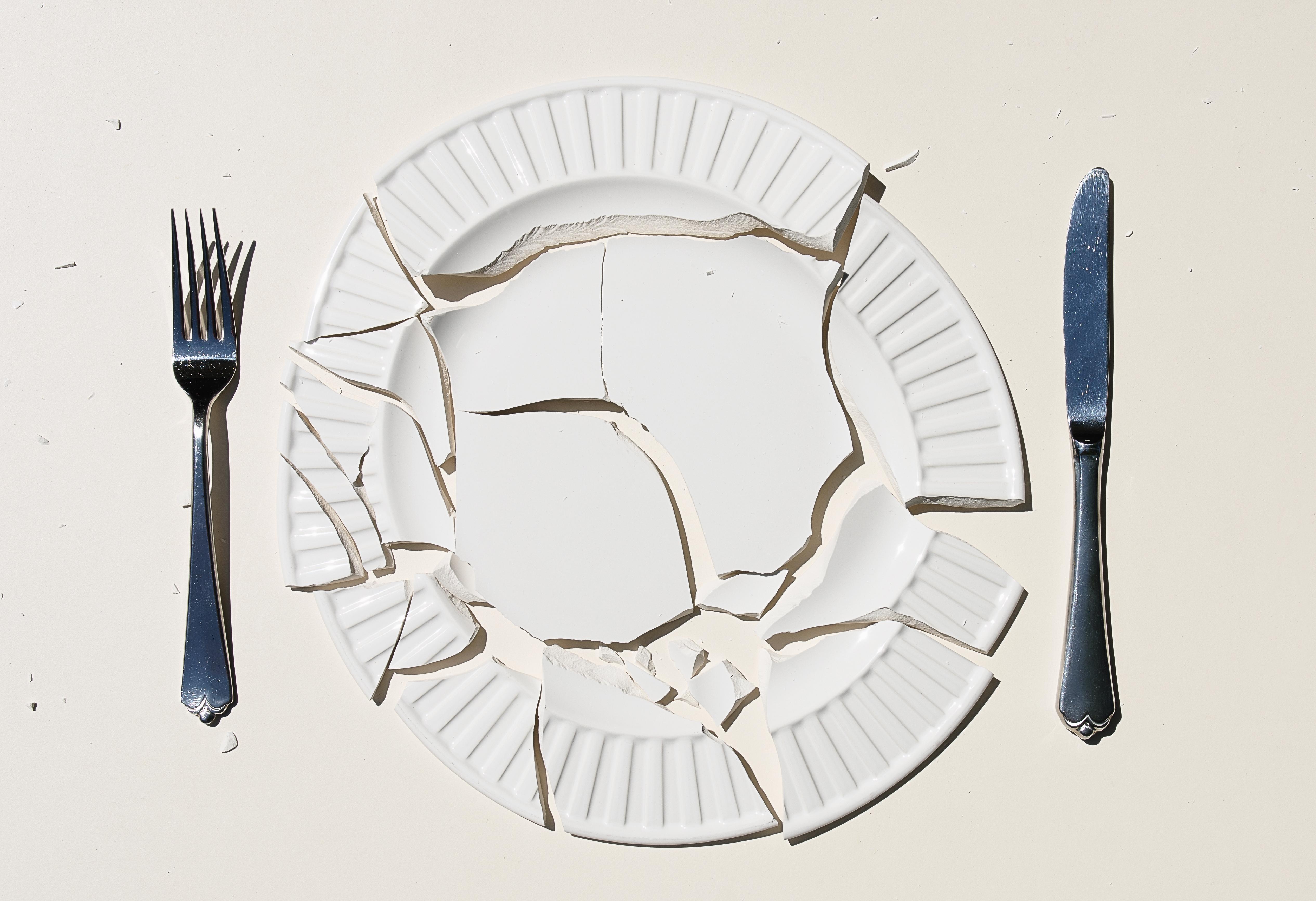 картинки осколки посуды гель медиум можно