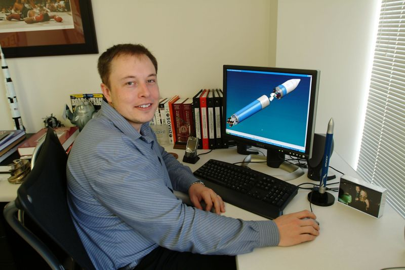 Elon Musk in 2004, the year he became chairman of the board at a tiny electric car startup called Tesla.