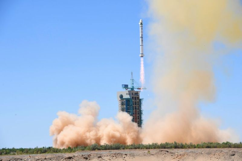 A Long March-2C rocket carrying two satellites is launched at the Jiuquan Satellite Launch Center on July 9, 2018 in Jiuquan, Gansu Province of China. (Photo by Wang Jiangbo/China News Service/VCG)
