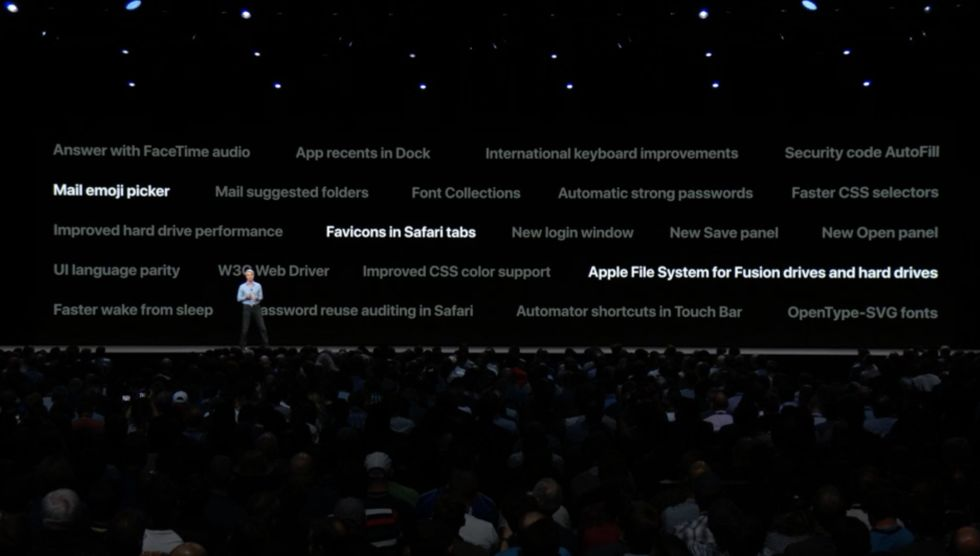 "Note ""improved hard drive performance"" and ""Apple File System for Fusion Drives and hard drives."""