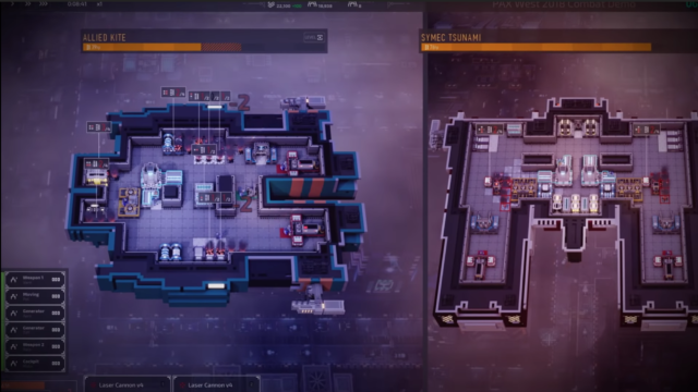 The only <em>Industries of Titan</em> gameplay we saw at PAX West revolved around this one-on-one ship battle. Manage your own stations and crew while deciding which parts of your foes' ship interior you'll aim at. Destroy a generator? A turret? Part of the floor? It's up to you.