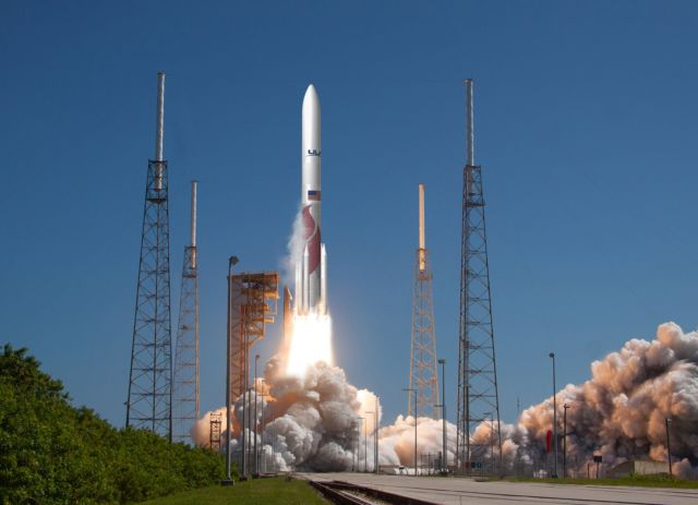Artist's rendering of a Vulcan-Centaur rocket launch.