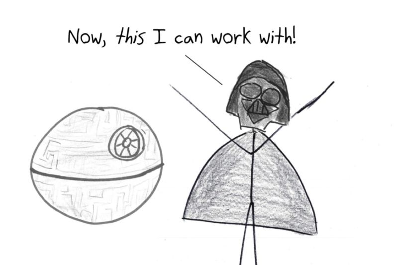 Geometry puts some real design constraints on Darth Vader's desire for a spherical Death Star.