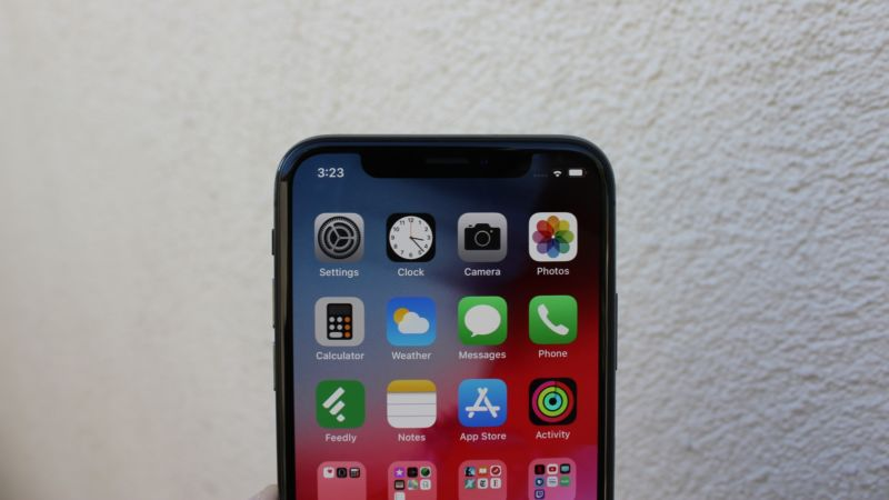 iOS 12 on an iPhone X.