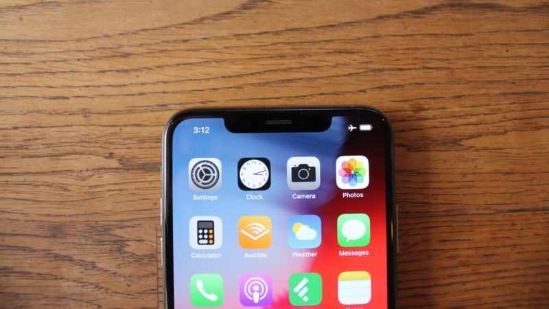 The notch on the new iPhone.