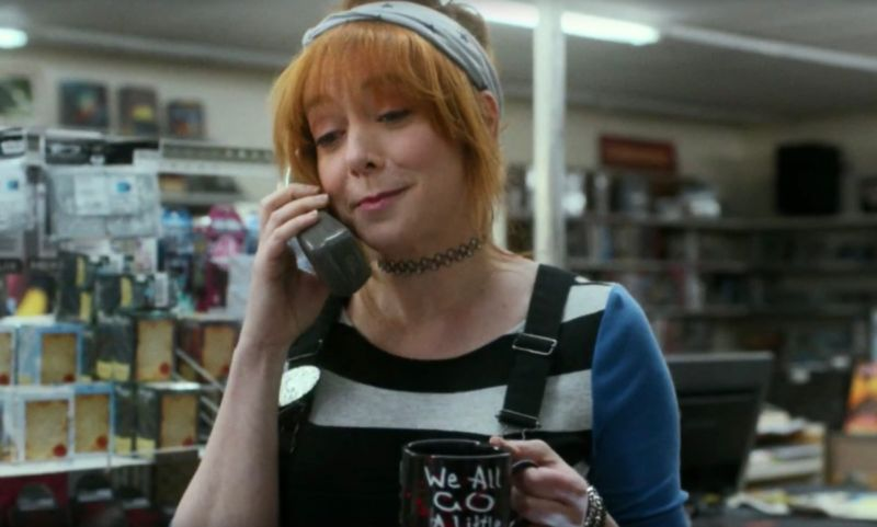 Chuck (Alyson Hannigan) offers timely advice to summer camp counselor Sam (Fran Kranz) who finds himself dealing with a crazed killer.