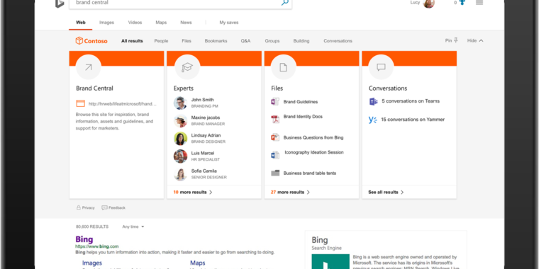 Microsoft unifying search across Bing, Office, and Windows