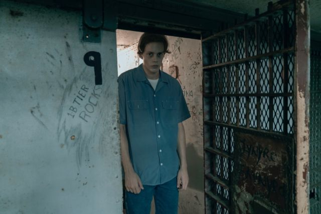 The mysterious appearance of the Kid (Bill Skarsgård) in Shawshank Prison sets off the events in <em>Castle Rock.</em>