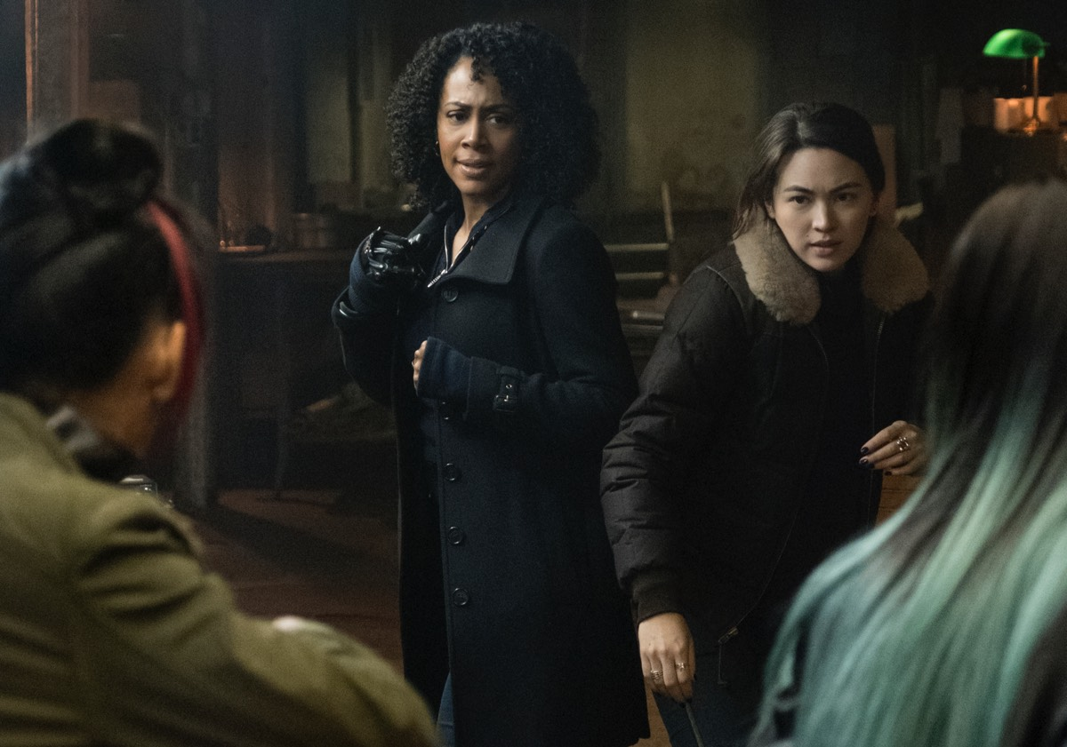 Riot Grrls: Misty Knight (Simone Missick) and Colleen Wing (Jessica Henwick) ready to kick butt in a tattoo parlor.