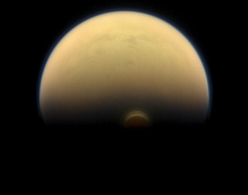 Image of Saturn's moon Titan.
