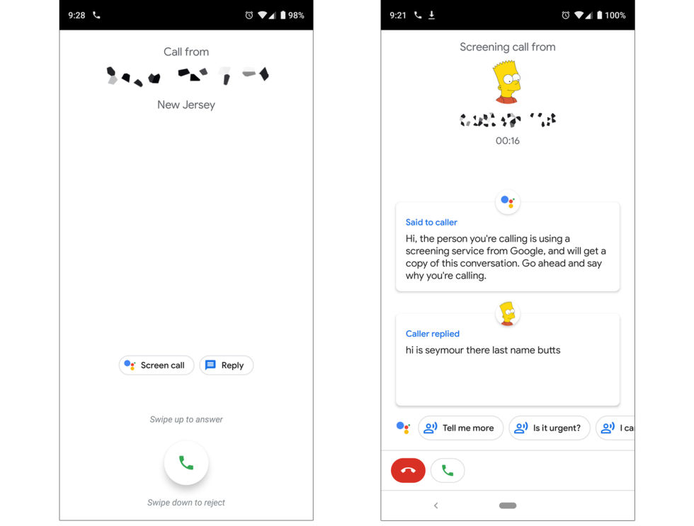 "Just answer with the ""Screen Call"" button and you'll get a silent call transcription interface that looks more like an instant messaging app than a phone call."