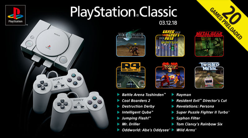 PlayStation Classic's full game list announced, and it might