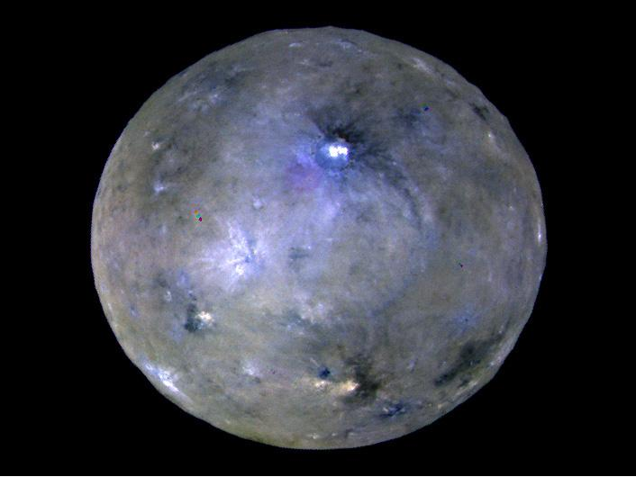 Image of the dwarf planet Ceres.