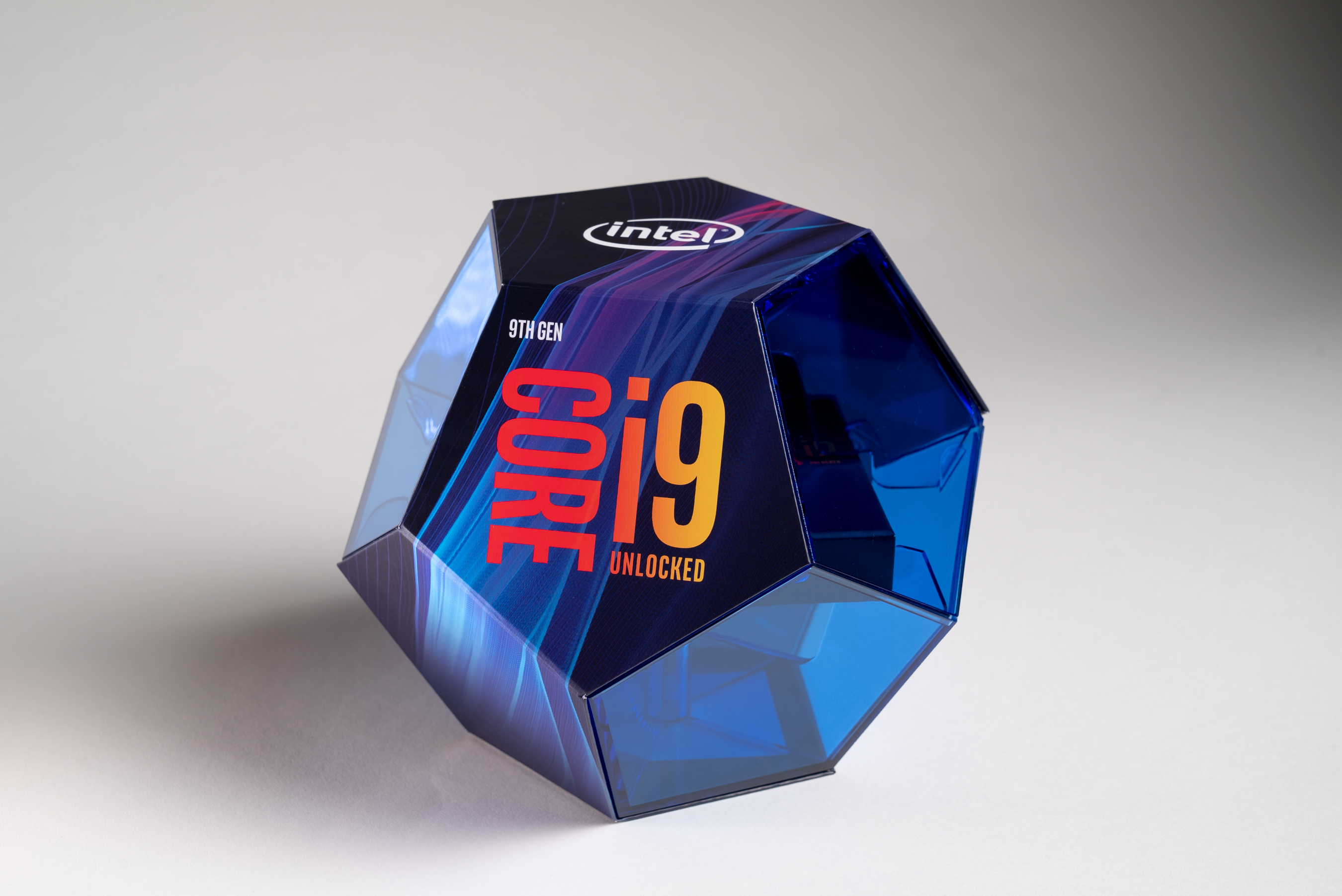 The 9th-generation Core i9 parts will come in a fancy-looking dodecahedron box.