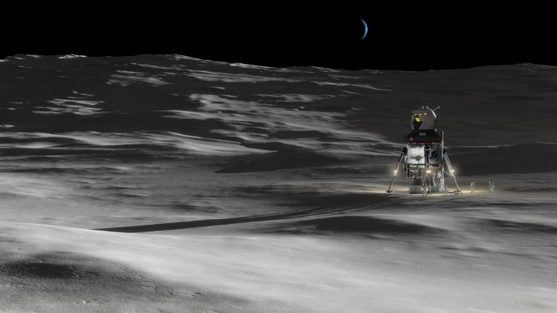 A Lockheed Martin concept for a lunar lander.