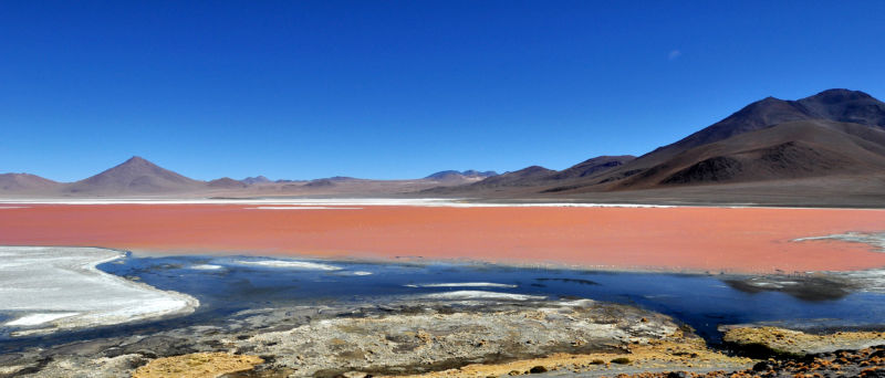 Salt flats in South America