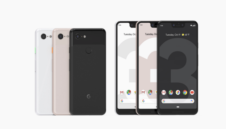 Image result for Google Pixel 3 design and display