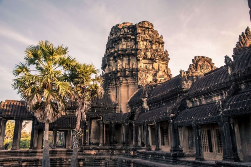 The Cambodian city of Angkor was once the largest in the world until vast swathes of the population decamped in the 15th century. Its famous temple, Angkor Wat (above), survived.