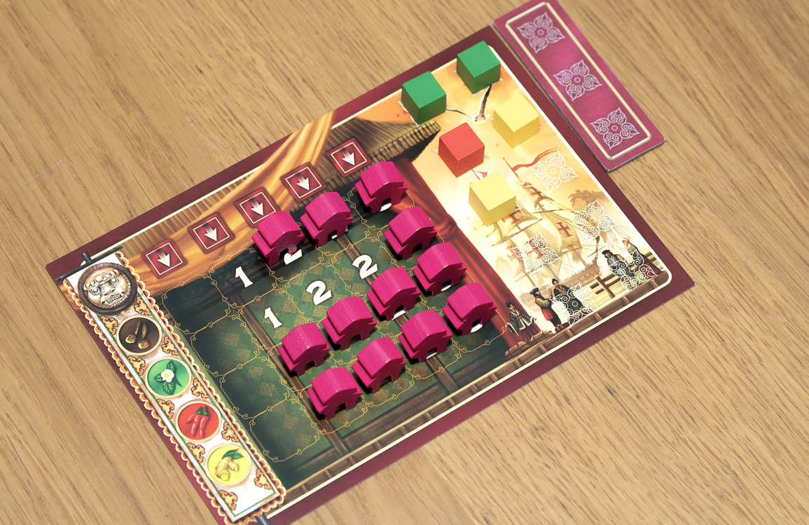 The Eastern Wonders player board.