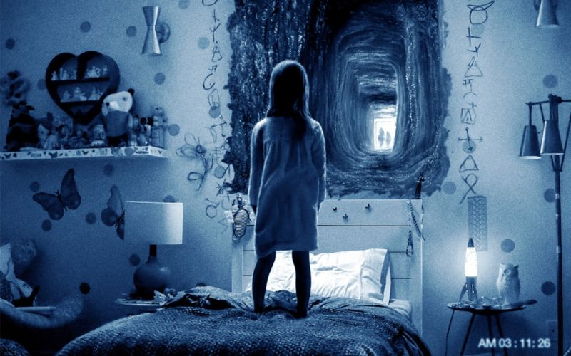 The breathing of the crowd: The 2015 found-footage horror film <em>Paranormal Activity: Ghost Dimension</em> was one of the movies screened during the study.