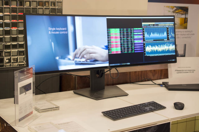 Dell's newest monitor is a 49-inch, dual QHD, curved behemoth   Ars