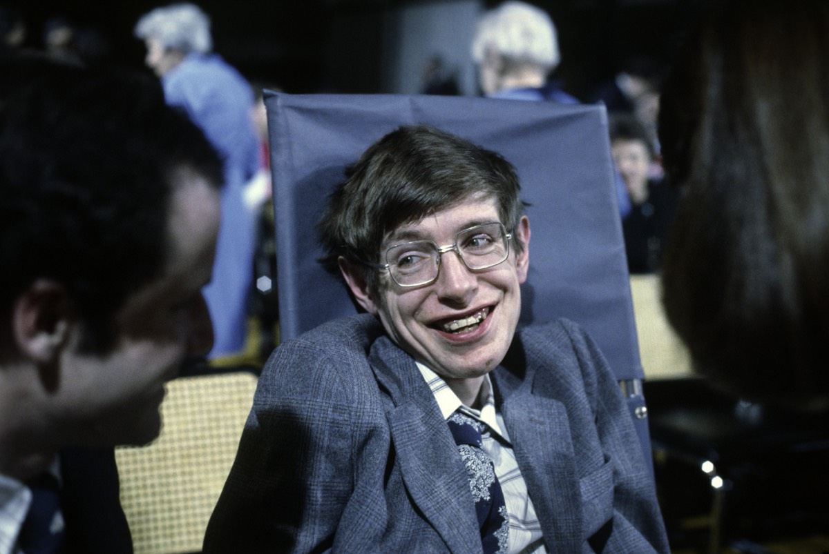 Stephen Hawking in Princeton, New Jersey, October 1979.