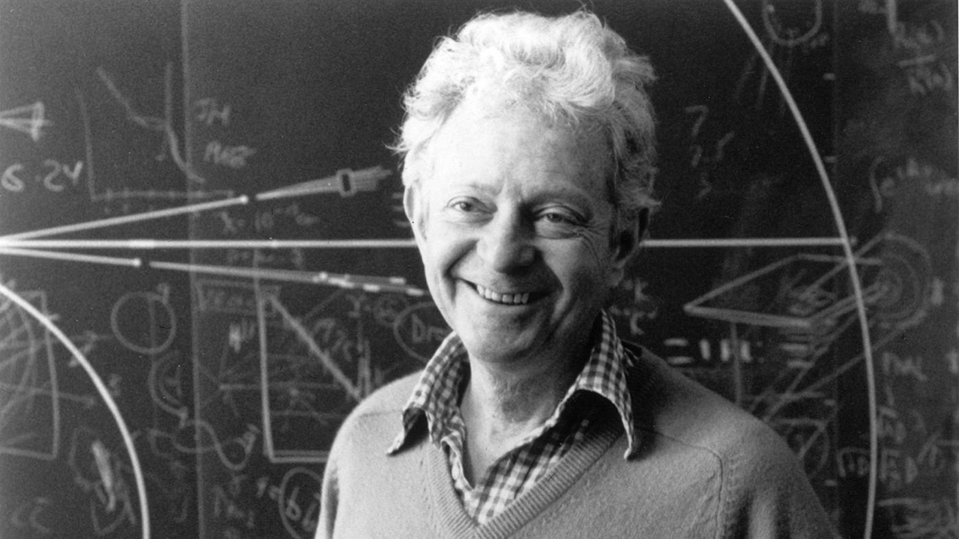 The newly minted Nobel laureate in his Fermilab office in 1988.