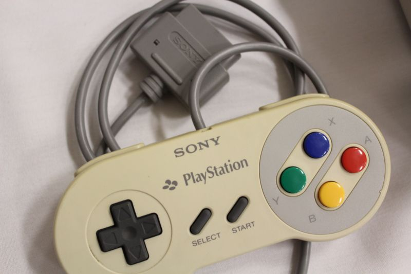 An article about Sony's and Nintendo's console fortunes seems a good excuse to run a photo of their decades-old failed console collaboration.