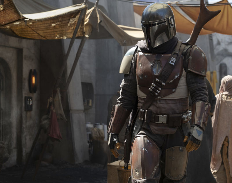 The first officially released image from <em>The Mandalorian</em>.