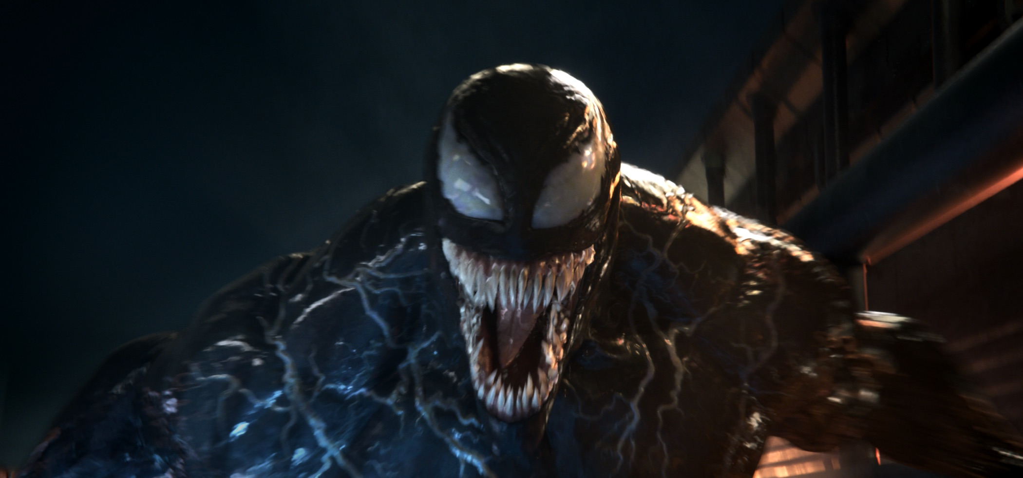 "Venom's ""surprised"" face."
