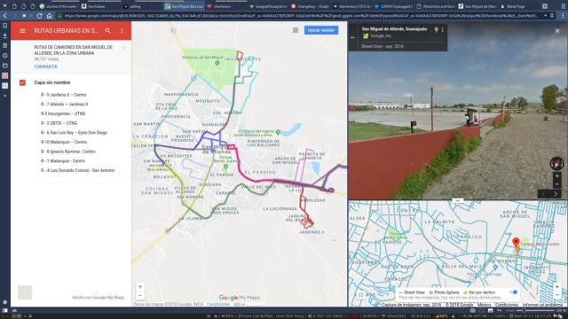 An example of how tab tiles can be useful. On the left is a map of bus routes, on the right is the street view of what I'll see when I get off the bus.