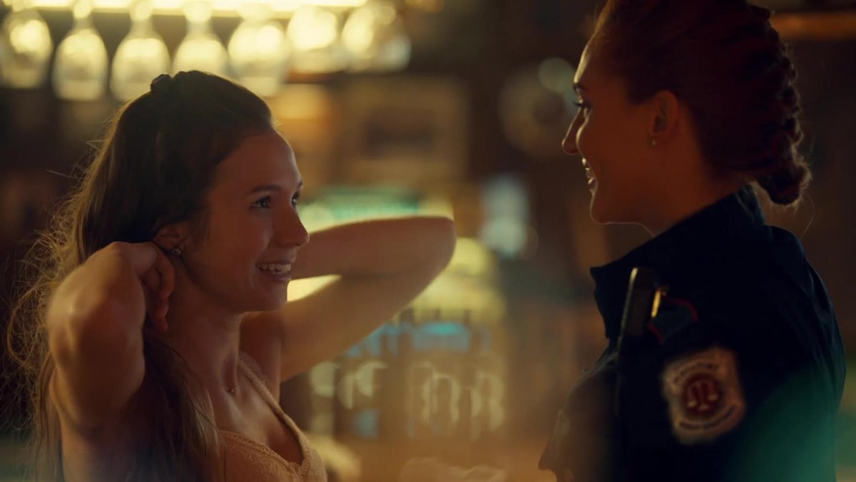 Way-Haught: Waverly Earp (Dominique Provost-Chalkley) finds true love with Officer Nicole Haught (Katherine Barrell).