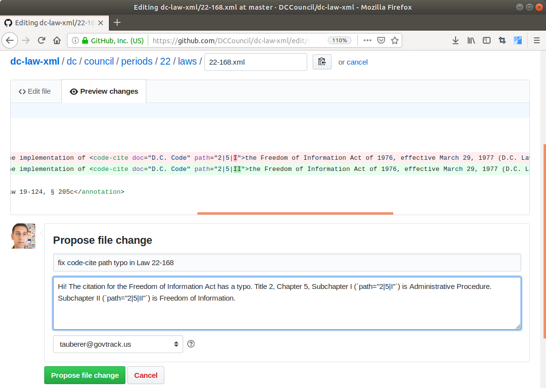 How I changed the law with a GitHub pull request | Ars Technica