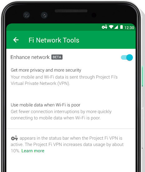 Google's Project Fi adds an always-on VPN to its cell service