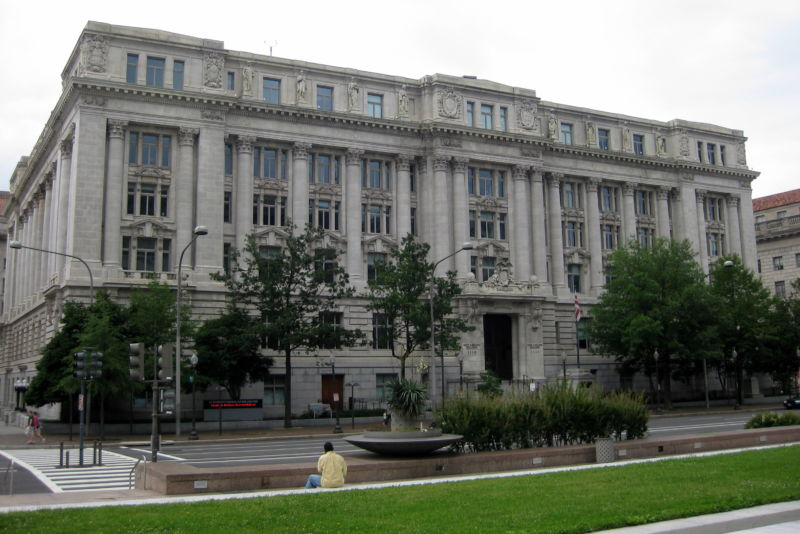 The DC Council meets at the John A. Wilson building.