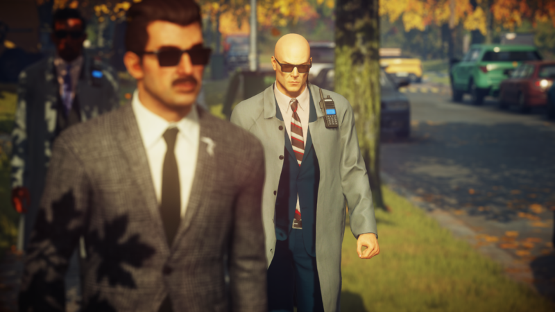 Agent 47 stalking his prey.
