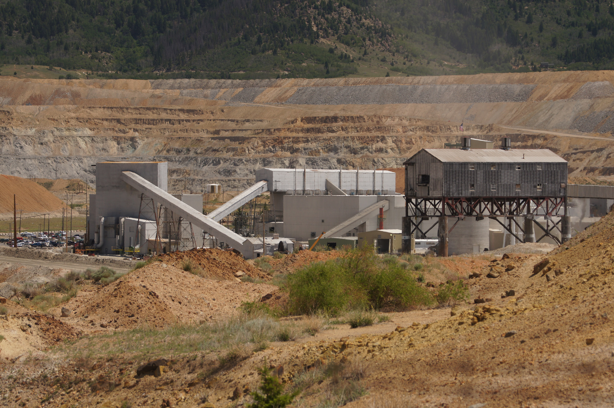 Berkeley Pit open-pit copper mine in Butte, Montana