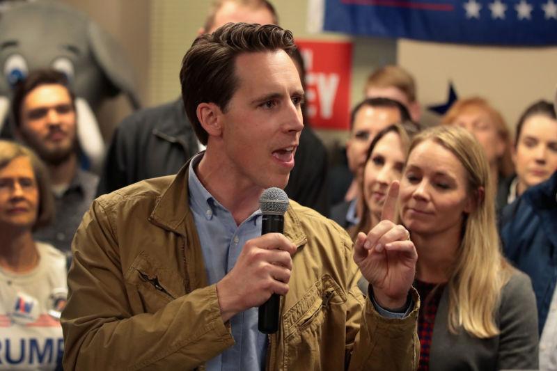 A politician gives a speech.
