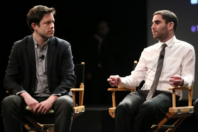 (L-R) Nathaniel Popper and Charlie Shrem attend Tribeca Talks: After The Movie: <em>The Rise and Rise of Bitcoin</em> during the 2014 Tribeca Film Festival at the SVA Theater on April 23, 2014, in New York City.
