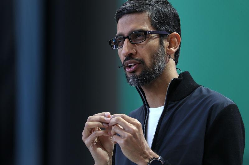 CEO of Google, Sundar Pichai, in 2017.