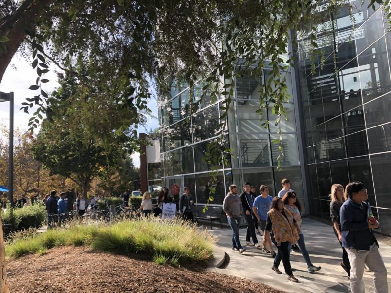 Exterior of Google office building.
