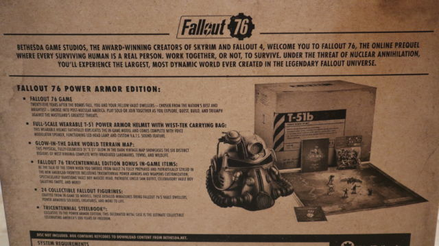 "We unbox the $200 ""power armor"" Fallout 76 version so you don't have"