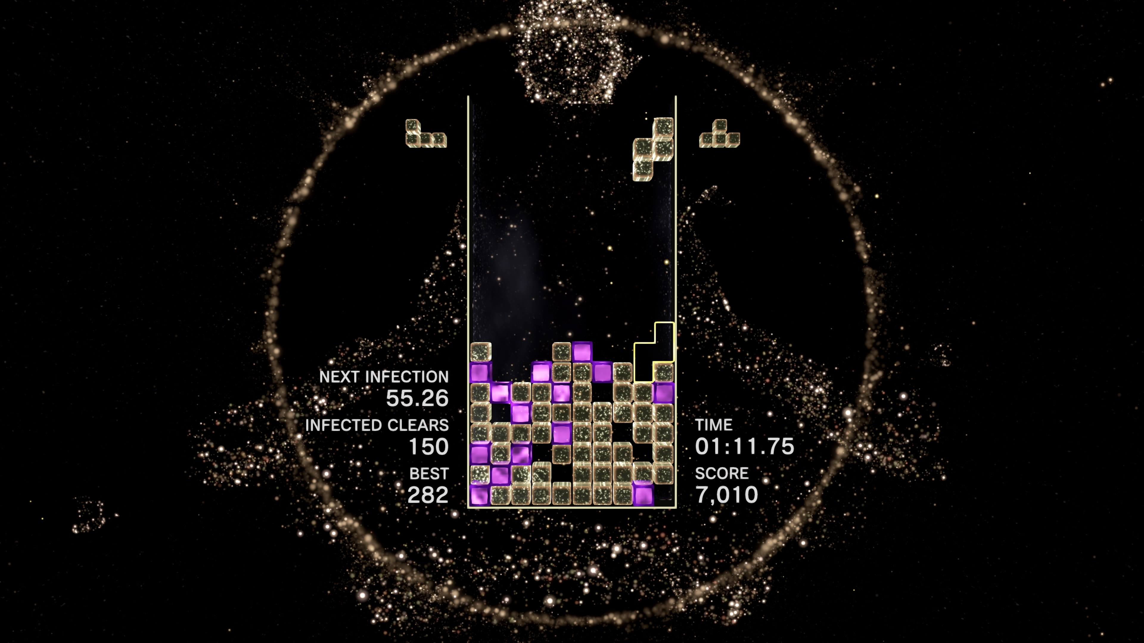 One of the many modes available in <em>Tetris Effect</em>.